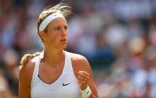 Victoria Azarenka reached the last 16 of Wimbledon on Friday with a nerve-jangling 3-6 6-1 6-4 win over home favourite Heather Watson. Picture: Twitter/@Wimbledon