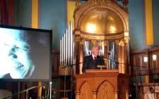 Former US President Bill Clinton speaks during the tribute concert for Nelson Mandela in New York on 13 February. Picture: Nadia Neophytou/EWN.