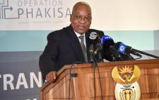 President Jacob Zuma speaking during the launch of Operation Phakisa. Picture: GCIS.