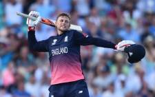 England's Joe Root celebrates a milestone score. Picture: AFP