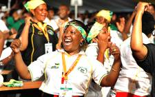 ANC delegates sing during the opening of the party's 53rd National Conference in Mangaung on 16 December 2012. Picture: ANC Pix