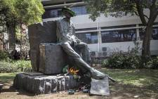 FILE: A statue of former apartheid era leader CR swart was vandalised on the University of the Free State main campus in Bloemfontein. Picture: Reinart Toerien/EWN.""