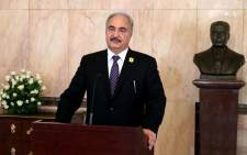 FILE: Libyan General Khalifa Haftar. Picture: AFP.