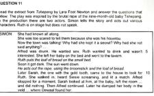 The excerpt used in a controversial matric Dramatic Arts exam question about Lara Foot Newton's play 'Tshepang'. Picture: Supplied.