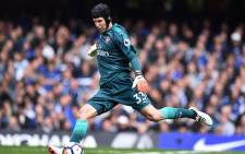 Arsenal goalkeeper Petr Cech takes a kick during an English Premier League match. Picture: AFP