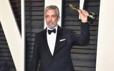 Sound mixer Kevin O'Connell shows his Oscar award. Picture: AFP
