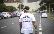 Demonstrators in Cape Town called for the downgrading of South Africa's embassy in Israel. Picture: Cindy Archillies