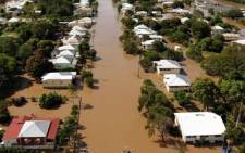 Rising floodwaters. Picture: AFP.