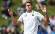 Proteas bowler Morne Morkel reacts to a half chance. Picture: @OfficialCSA/Twitter