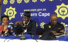 Police Minister Bheki Cele met with taxi associations on 24 June 2018, following deadly taxi violence in Cape Town. Picture: Kaylynn Palm/EWN