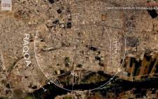 CNN has obtained satellite images of Islamic State's self-declared capital Raqqa. The images show intriguing details of life in the isolated city. Picture: CNN
