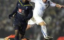 Tottenham striker Jermaine Defoe bears down on goal. Picture: AFP