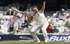 FILE: James Faulkner injured his knee during the Australia Day one-day international in Adelaide. Picture: AFP.