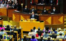 President Jacob Zuma delivers his State of the Nation Address in Parliament on 14 Febryary 2013. Picture: GCIS/RSA Parliament
