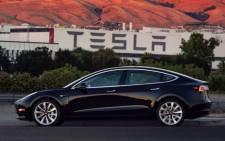 Tesla Inc's Model 3 sedan. Picture:  Twitter @Tesla.