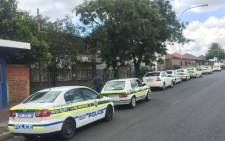 FILE: Police make their presence known in Rosettenville following violent protests. Picture: Pelane Phakgadi/EWN.