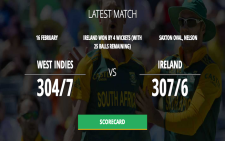 Cricket world cup score card
