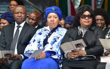 FILE: Deputy president David Mabuza and Zenani and Zindzi Mandela during the memorial service for the late Winnie Madikizela-Mandela at Orlando Stadium on 11 April 2018. Picture: ANC