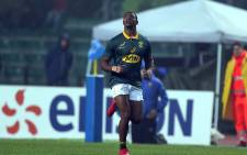 Warrick Gelant will make his first start in a Bok jersey against Wales. Picture: Twitter/@Springboks
