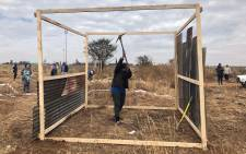 Ennerdale residents illegally erecting shacks on a piece of land. Picture: Mia Lindeque/EWN