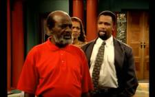 Sello Maake KaNcube and David Phetoe in 'Generations' as father and son. Picture: YouTube screengrab.