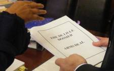 The arms deal dossier. Picture: EWN