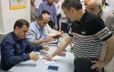 Earlier on Friday Iranian voters flocked to polling stations to play their part in the election. Picture: Twitter/@twt24_7.