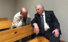 Christiaan Prinsloo (left) was sentenced to 18 years in prison at the Bellville Magistrates Court on 21 June 2016. Picture: Natalie Malgas/EWN.