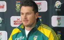 Proteas captain Graeme Smith addresses a press conference in Cape Town on 08 November 2011. Picture: Alicia Pillay/EWN