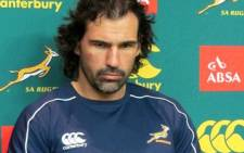 Springbok lock and vice captain Victor Matfield. Picture: Morné Esben/EWN