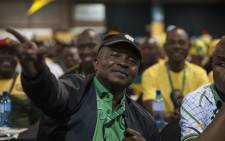 David Mabuza sitting with the Mpumalanga delegation during the nominations process at the ANC's national conference on 17 December 2017. Picture: Ihsaan Haffejee/EWN