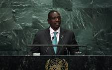Kenya's Vice-President William Ruto addresses the 71st session of the United Nations General Assembly at the UN headquarters in New York on September 21, 2016. Picture: AFP