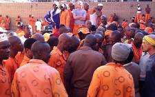 Inmates inside the Pretoria Central Prison. Picture: EWN