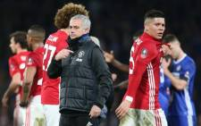 Manchester United manager Jose Mourinho consoles his players after a 1-0 loss to Chelsea in The FA Cup semi-finals on 13 March 2017 at Stamford Bridge. Picture: Facebook.