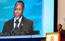 Deputy President Kgalema Motlanthe speaks at the XIX International Aids Conference in Washington DC. Picture: GCIS.