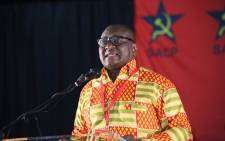 Gauteng Premier David Makhura addresses SACP's 14th congress in Boksburg. Picture: @SACP1921/Twitter.