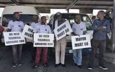 The Santcao taxi strike on Tuesday 20 March 2018. Picture: Ihsaan Haffajee/EWN