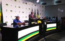 ANC secretary general Gwede Mantashe during a press briefing about the Nkandla report. Picture: Sebabatso Mosamo/EWN