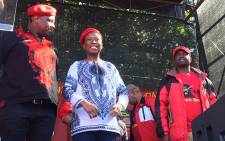 EFF leader Julius Malema address an Africa Day gathering in Joubert Park, Johannesburg. Picture: Louise McAuliffe/EWN