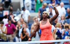 FILE: Serena Williams took charge of the opening set by securing service breaks in the fifth and seventh games. Picture: AFP.