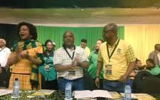 FILE: African National Congress national chair Baleka Mbete (L) with ANC KZN chair Sihle Zikalala (C). Picture: Ziyanda Ngcobo/EWN