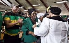 Nkosazana Dlamini-Zuma arrives for the ANCWL memorial for Winnie Madikizela-Mandela at Regina Mundi Church in Soweto. Picture: Ihsaan Haffejee/EWN.