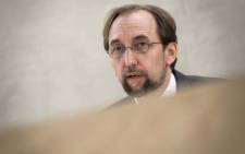 United Nations High Commissioner for Human Rights, Zeid Ra'ad Al Hussein, speaks during a special session of the UN Human Rights Council on 18 May 2018. Picture: AFP