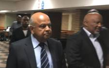 Pravin Gordhan and Mcebisi Jonas at the Pretoria High Court on 28 March 2017. Picture: Barry Batman/EWN.