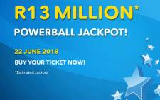 The estimated jackpot for the Powerball draw on 22 June 2018 was set at R13 million. Picture: @sa_lottery/Twitter