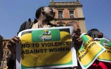 FILE: Members of ANC Women League demonstrate against violence against women. Picture: Christa Eybers/EWN