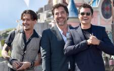 'Pirates of the Caribbean: Dead Men Tell No Tales' actors Johnny Depp (left), Javier Bardem (centre) and Orlando Bloom during the European premier of the fifth instalment of Disney's 'Pirates of the Caribbean'. Picture: Twitter/@DisneyPirates.