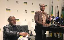 Gwede Mantashe at the National Executive Committee (NEC) and the NEC Lekgotla post brief. Picture: Kgothatso Mogale/EWN