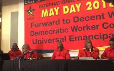 SACP leaders seen on the last day of their central committee meeting in Johannesburg, on 3 June 2018. Picture: EWN
