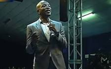 A screengrab of DA leader Mmusi Maimane delivering the party's alternative State of the Nation Address on 6 February 2018.